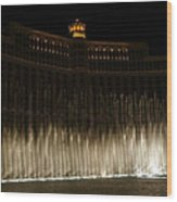 Bellagio Fountains Wood Print