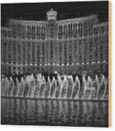 Bellagio Fountains Wood Print