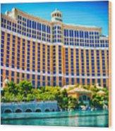 Bellagio Hotel And Casino Wood Print