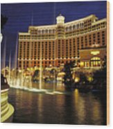 Bellagio Hotel In Las Vegas Wood Print