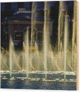 Bellagio Light Show - Lasvegas Wood Print
