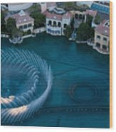 Bellagio Shoreline Wood Print