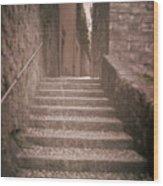 Bellagio Stairs Wood Print