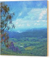 Bellbird Outlook Wood Print