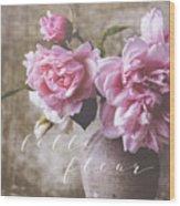 Belle Fleur Pink Peonies Wood Print