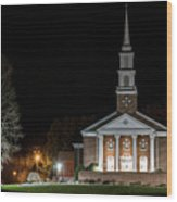 Belle Meadows Baptist Church Wood Print