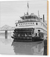 Belle Of Louisville Docked Wood Print