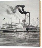 Belle Of Memphis Wood Print