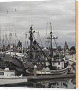 Bellingham Bay Ship Yard Wood Print