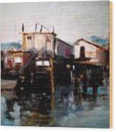 Bellingham Boats Wood Print