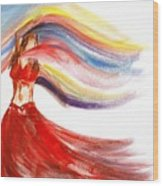 Belly Dancer 2 Wood Print