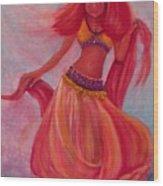Belly Dancer Wood Print