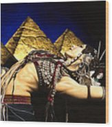Bellydance Of The Pyramids - Rachel Brice Wood Print