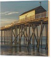 Belmar Fishing Pier Wood Print