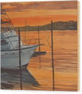 Belmar Sunset Wood Print