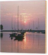 Belmont Harbor Sunrise 1973 Wood Print