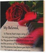 Beloved Wood Print