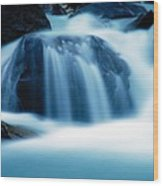 Below Tak Falls Wood Print
