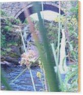 Below The Bridge Wood Print