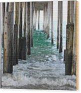 Below The Pier Wood Print
