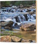 Below Toccoa Falls Wood Print