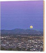 Belt Of Venus And Full Moon Rising Wood Print