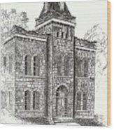 Belton Jail Wood Print