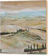 Belvedere - Tuscany Wood Print