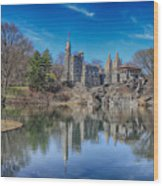Belvedere Castle And Turtle Pond Wood Print
