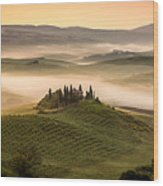 Belvedere Toscany Wood Print