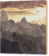 Belzoni Mountain Range Wood Print