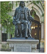 Ben Franklin At The University Of Pennsylvania Wood Print