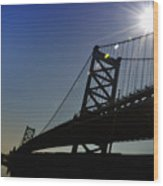 Ben Franklin Bridge 2 Wood Print