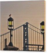 Ben Franklin Bridge In Early Morning Wood Print