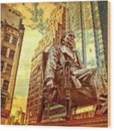 Ben In New York City Wood Print