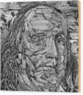 Ben In Wood B W Wood Print