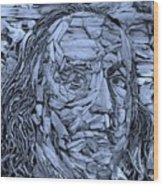 Ben In Wood Cyan Wood Print