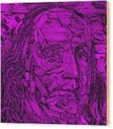 Ben In Wood Purple Wood Print