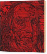 Ben In Wood Red Wood Print