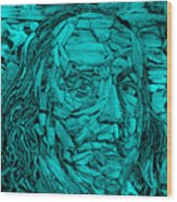Ben In Wood Turquoise Wood Print