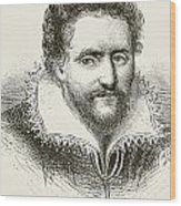 Ben Jonson 1572 To 1637. English Wood Print