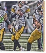 Ben Roethlisberger Pittsburgh Steelers Art Wood Print