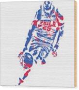 Ben Simmons Philadelphia Sixers Pixel Art 1 Wood Print