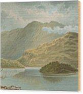 Ben Venue And Ellen's Isle   Loch Katrine Wood Print