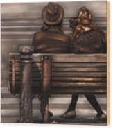 Bench - A Couple Out Of Time Wood Print