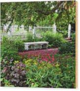 Bench In Prescott Park Wood Print