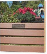Bench In Steelhead Park Wood Print