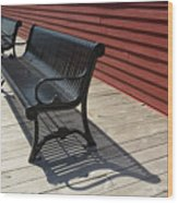 Bench Lines And Shadows 0841 Wood Print