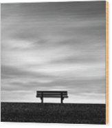 Bench, Long Exposure Wood Print