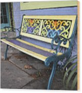 Bench Of Color Wood Print